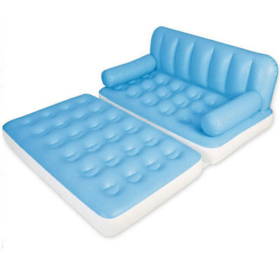 Blow up a temporary sofa bed