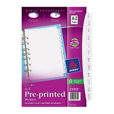 Avery Preprinted Tab Divider - Printeda-z - 12 Tabsset - 5.50 X 8.50 - 26