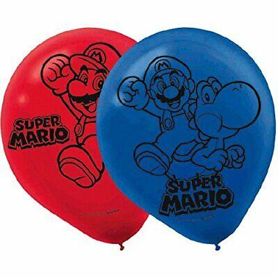 Super Mario Balloons (Party Novelties - Super Mario Bros Printed Latex Balloons)