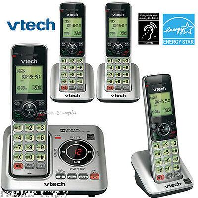 Vtech DECT 6.0 4 Cordless Handset Home Telephone Phone System ID CS6629-3 CS6609