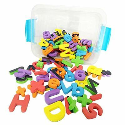 Deke 123 Pieces Magnetic Fridge/Refrigerator Foam Letters ABC Numbers and Symb