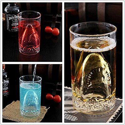 350ML Whisky Wine Shot Glass in box Beer Cup Creative Shark Durable Double Wall