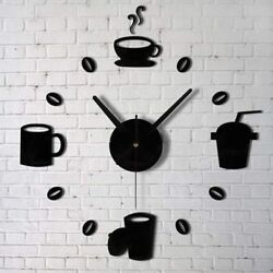 New style Wall Clock DIY Home Decoration 3D Modern Frameless Watches Sticker