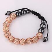 Gold Shamballa Bracelet