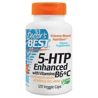 5 Htp Vitamin B (Doctor's Best 5-HTP Enhanced with Vitamin B6 & C 120 vcaps supports sleep & mood)