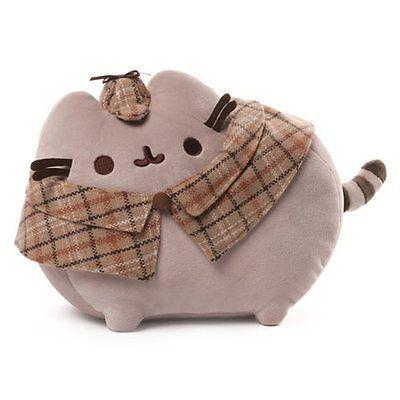 Gund New * Detective Pusheen * 12-Inch Plush Cat Grey Tabby Kitty Stuffed Toy