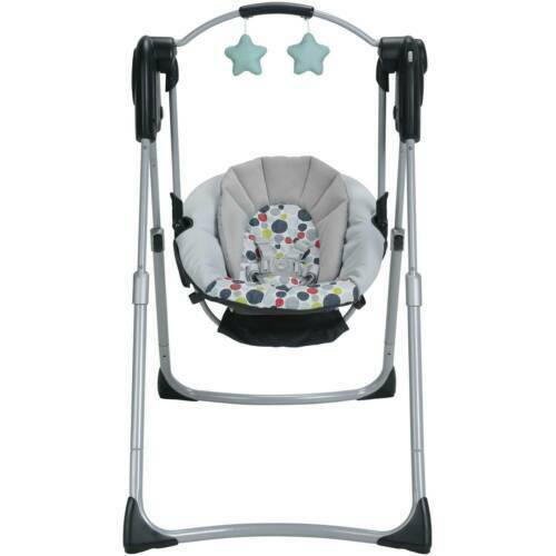 Graco Slim Spaces Compact Baby Swing, Etcher Fashion
