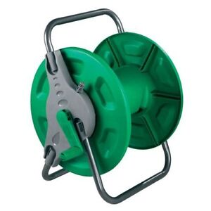 60M KINGFISHER PORTABLE GARDEN HOSE REEL WATER PIPE FREE STANDING WALL MOUNTABLE