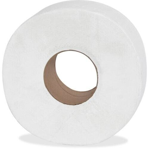 Genuine Joe 2-ply Jumbo Roll Dispenser Bath Tissue, White, 12 Rolls (GJO2565012)