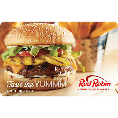 Red Robin Gift Card    25  50 Or  100   Email Delivery
