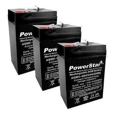 3 Pack - 6V 4.5AH Lithonia ELB06042 SLA - 6V 5Ah Replacement