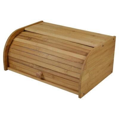 Bambus Brotkasten mit rollbarem Deckel - Brotbox Brotkiste Brotbehälter Kasten