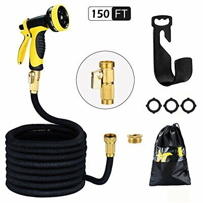 HmiL-U Garden Hose 150ft 45m Strongest Double Latex Inner Tube Prevent Leakin...