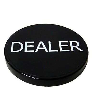 "Brybelly 2"" Printed Poker Dealer Button, Black"