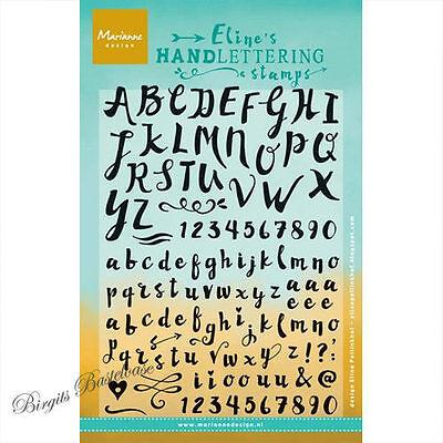 Clear Stamps Alphabet Zahlen EC0159 Stempel Marianne Design