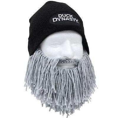 5f894572036324 Duck Dynasty Black Beanie - Short Gray Beard By Beard Head