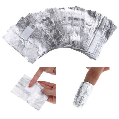 100Pcs Nail Art Gel Polish Remover Pads Soak Off Aluminium Foil Cleaning Wrap