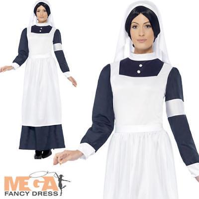Great War Nurse Ladies Fancy Dress Victorian Dickens Book Day Adults Costume (Great Fancy Dress Kostüme)