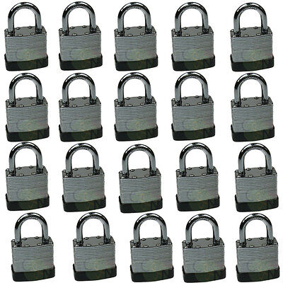 20pcs 40mm Heavy Duty Laminated Padlock All Keyed Alike