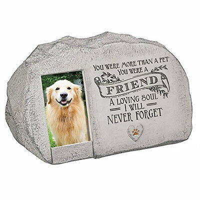 Pet Engraved Rock Memorial Picture Dog Paw Cat Stone Garden Print Plaque Marker
