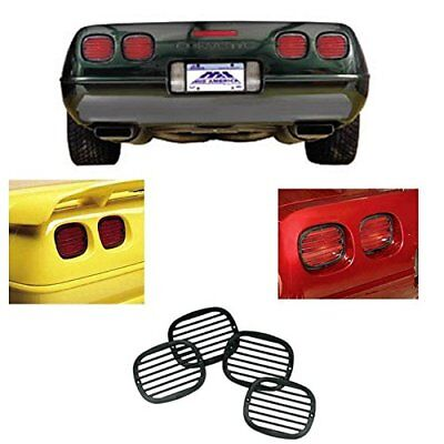 C4 CORVETTE 1991-96 TAIL LIGHT LOUVERS EURO STYLE LAMP COVERS COMPLETE SET OF 4