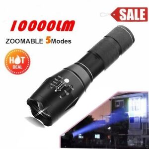 Zoomable tacticle 10000 lumins flashlight 100% NEW
