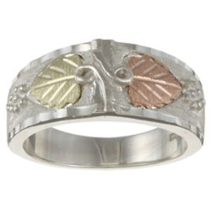 black gold and silver mens ring ebay