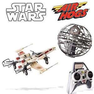 NEW AIR HOGS STAR WARS RC DRONES X WING VS. DEATH STAR REBEL ASSAULT REMOTE CONTROL DRONES 105118665