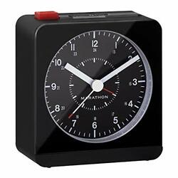 Marathon Silent Non-Ticking Alarm Clock with Warm Amber Auto Back Light and Repe