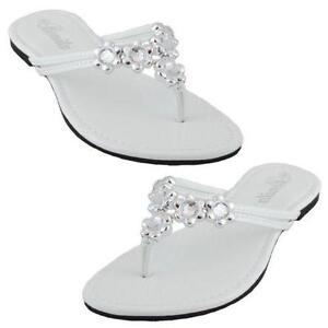 Flower flip flops ebay white flower flip flops mightylinksfo