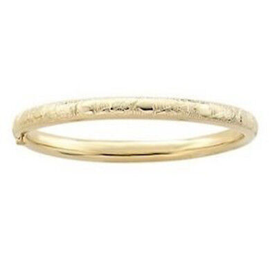 (14k Gold Filled Flower and Heart Baby Bangle Size Xs)