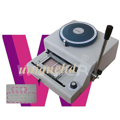 Pvc Id Cards Embosser Machine And Indent Print 2in1