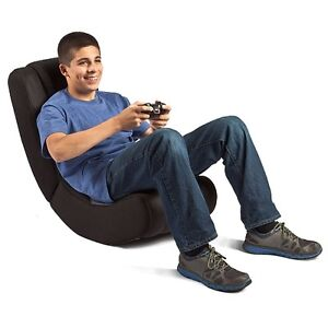 grey curve rocker gaming chair