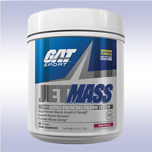 GAT JETMASS  creatine glutamine bcaa glycogen carb post work