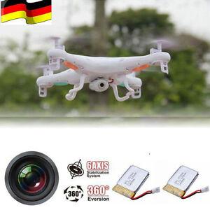 2 Akkus SYMA X5C-1 RC Quadrocopter Drohne mit 2MP Kamera 3D Drone Hubschrauber
