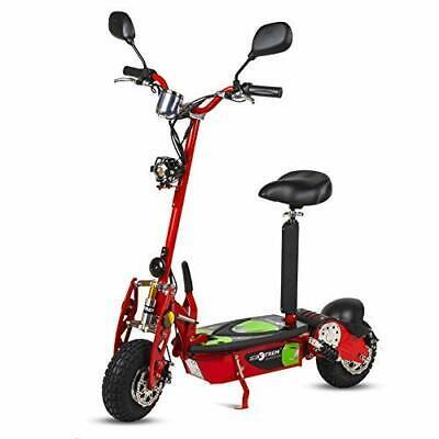 Moto scooter electrico 800w 40 km/h patinete sillin plataforma rojo patin