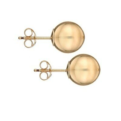 14K Gold Filled High Polished Ball Bead Stud Earrings - ALL SIZES 2mm - 10mm 14k Gold Fill Earrings