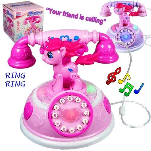 Musical Toys for Girls Age 2 3 4 5 6 7 8 Year Old Kids Phone Pony Children Gift