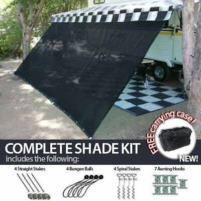 8' x 16' RV Camper Trailer Awning Sun Shade Kit Motorhome Patio Privacy Screen