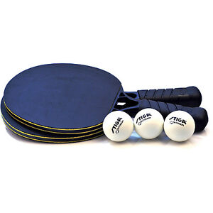 STIGA-OUTDOOR-TWO-PLAYER-SET-ping-pong-2-Paddles-3-outdoor-Balls