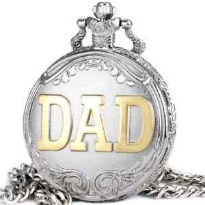 Stainless steel Dad pocket watches 100% NEW