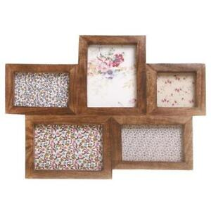 brown multi photo frames