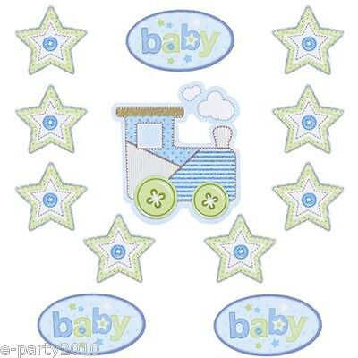 BABY SHOWER CARTER'S BOY CUTOUTS (12) ~ Party Supplies Decorations Room Paper