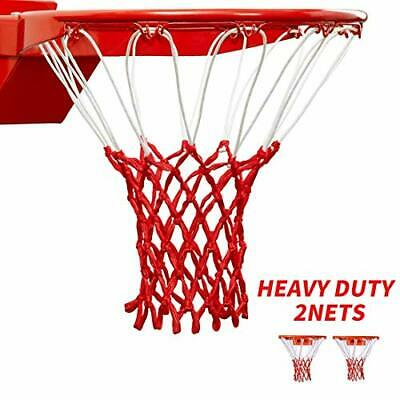 HUAHUA Professional Heavy Duty Basketball Net - All Weather Anti Whip, Fits