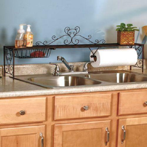 over above kitchen home organizer decoration sink contemporary shelf