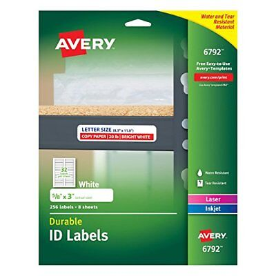 NEW Avery Durable ID Labels, Permanent Adhesive, 5/8
