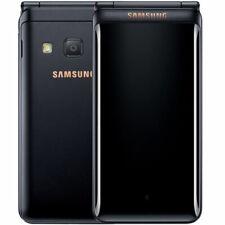 """Samsung Galaxy Folder 2 G1650 3.8"""" Black 16GB Dual Sim Android Phone By FedEx"""