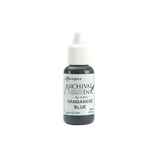 RANGER Archival Reinker .5oz Refill Ink for Stamp Pads Select from 55 colors Manganese Blue