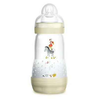 MAM Baby Bottles for Breastfed Babies, MAM Baby Bottles Anti Colic, White, 9 ...