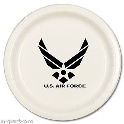 AIR FORCE DINNER PLATES BLACK LOGO Party Supplies FREE SHIPPING